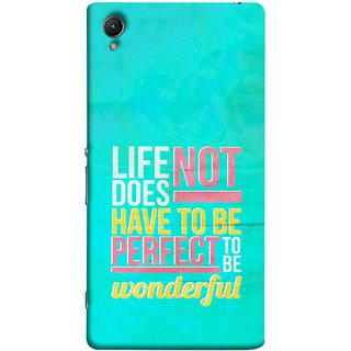 FUSON Designer Back Case Cover For Sony Xperia Z2 (5.2 Inches) (To Be Wonderful Inspirational Quotes Life Green Back)