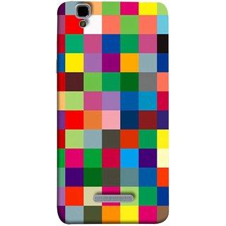 FUSON Designer Back Case Cover For YU Yureka Plus :: Yu Yureka Plus YU5510A (Triple Monitor Multi Multiple Screen Brique Cube)