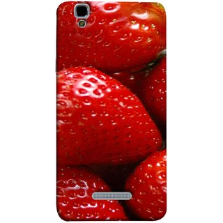 FUSON Designer Back Case Cover For YU Yureka :: YU Yureka AO5510 (Best Fresh Strawberry Ice Cream Homemade Recipes)