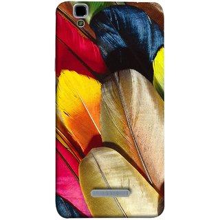 FUSON Designer Back Case Cover For YU Yureka :: YU Yureka AO5510 (Yellow Balck Brown Golden Gold Silver Parrot Red )