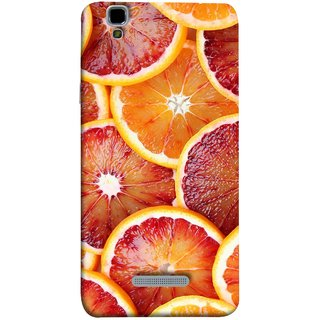 FUSON Designer Back Case Cover For YU Yureka Plus :: Yu Yureka Plus YU5510A (Citric Flesh Food Fruit Green Lemon Part Peel Orange)