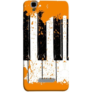 FUSON Designer Back Case Cover For YU Yureka :: YU Yureka AO5510 (Black And White Colour Splash Droplets Music )