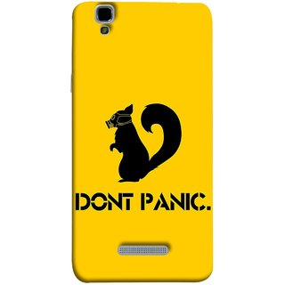 FUSON Designer Back Case Cover For YU Yureka Plus :: Yu Yureka Plus YU5510A (Never Panic Stay Cool And Solve Relax Always)