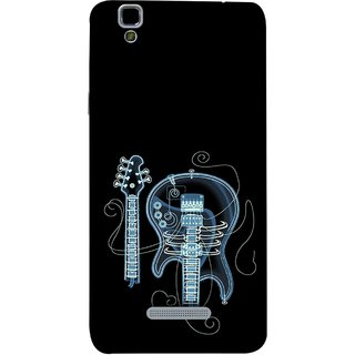 FUSON Designer Back Case Cover For YU Yureka :: YU Yureka AO5510 (Musical Instrument Vintage Bass Music Lovers Play)
