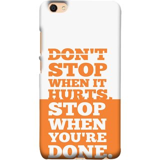 FUSON Designer Back Case Cover For Vivo Y55L :: Vivo Y55 (Stop When You Are Done Always See Targets )