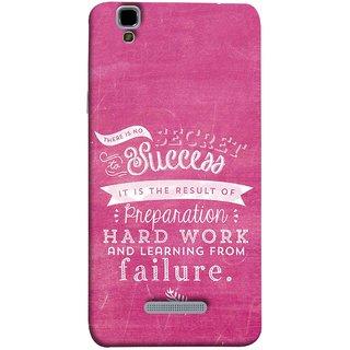 FUSON Designer Back Case Cover For YU Yureka Plus :: Yu Yureka Plus YU5510A (Result Of Preparation Hard Work Learning From Failure)