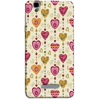 FUSON Designer Back Case Cover For YU Yureka Plus :: Yu Yureka Plus YU5510A (Valentine Pink Metallic Cool Peace Sign Symbol Pillow)