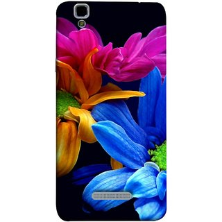 FUSON Designer Back Case Cover For YU Yureka Plus :: Yu Yureka Plus YU5510A (Colourful Wow Hd Gerbera Flowers Pink Blur Orange)