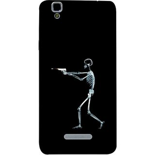 FUSON Designer Back Case Cover For YU Yureka Plus :: Yu Yureka Plus YU5510A (Incredible Human Xray Pictures Revolver Icon In Black)