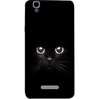 FUSON Designer Back Case Cover For YU Yureka Plus :: Yu Yureka Plus YU5510A (Black Kitty Kitten Closeup Of A Long Haired Black Cats )