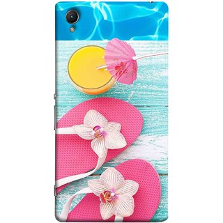 FUSON Designer Back Case Cover For Sony Xperia Z2 (5.2 Inches) (Orange Mango Fresh Juice Smoothie Drink Cocktail)