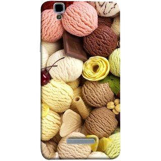 FUSON Designer Back Case Cover For YU Yureka Plus :: Yu Yureka Plus YU5510A (Cool Desserts Flavors Banana Chocolate Chips)