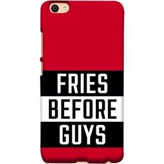 FUSON Designer Back Case Cover For Vivo Y55L :: Vivo Y55 (Food Before Dudes Food Lovers Mac D Lovers )
