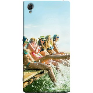FUSON Designer Back Case Cover For Sony Xperia Z2 (5.2 Inches) (Group Of Happy Young Woman Feet Splash Water In Sea)