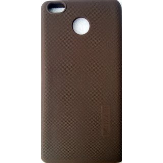 Premium Quality Rubberised Soft Silicone Back Cover For Redmi 4 (2017) Coffee