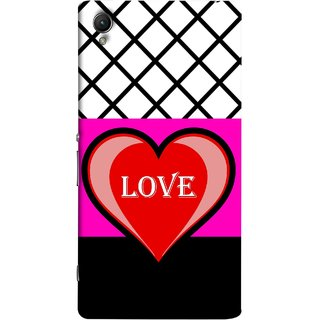 FUSON Designer Back Case Cover For Sony Xperia Z2 (5.2 Inches) (Pink Red Wallpapers Flowers Lovers Boyfriends Black)