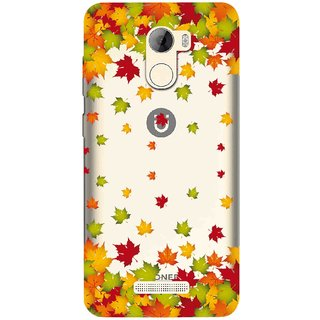 new arrival a574c d57ee Snooky Printed Leaf Mobile Back Cover of Gionee A1 Lite - Multicolour