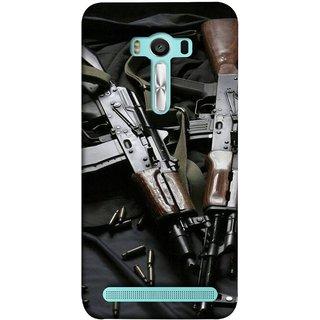FUSON Designer Back Case Cover For Asus Zenfone 2 Laser ZE550KL (5.5 Inches) (Ammunition Bullets Guns Machine Murders War )