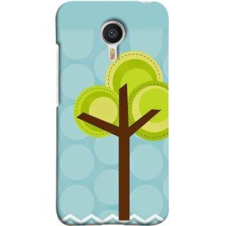 FUSON Designer Back Case Cover For YU Yunicorn :: YU Yunicorn YU5530 (Brown Branches Hand Artwork Green Leaves Water )