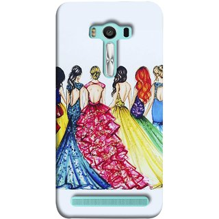 FUSON Designer Back Case Cover For Asus Zenfone 2 Laser ZE550KL (5.5 Inches) (Backless Prom Dress Gowns Dolls Curly Hairs Long)