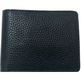 DIME Black Pure Leather wallet for men