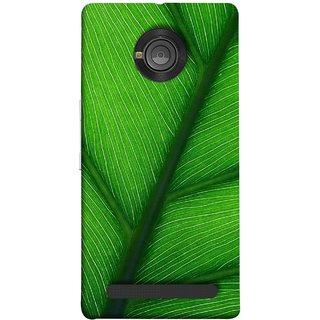 FUSON Designer Back Case Cover For YU Yuphoria :: YU Yuphoria YU5010 (Bright Green Leaf Of Tree Full Of Life Network Of Veins)