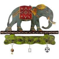 Meenakari Work Elephant Procession 3 Key Stand 152