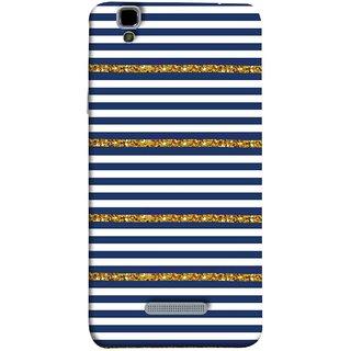 FUSON Designer Back Case Cover For YU Yureka Plus :: Yu Yureka Plus YU5510A (Spacing Golden Canvas Painting Ceramic Tiles)