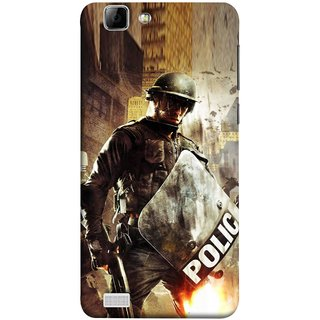 FUSON Designer Back Case Cover For Vivo X3S (Photograph Movie Scene Anti Terror Sqad Attacks )