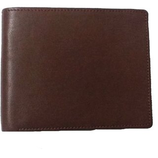 DIME Brown Pure Leather Wallet for men Plain Matt Finish