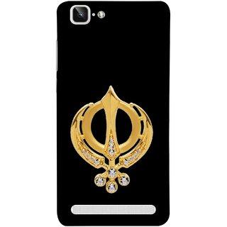 FUSON Designer Back Case Cover For Vivo X5Max :: Vivo X5 Max (Khalsa Khanda Guru Nanak Sikh Pendant Diamonds)
