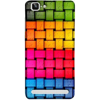 FUSON Designer Back Case Cover For Vivo X5Max :: Vivo X5 Max (Bright And Beautiful Colour Strips And Band Glossy)