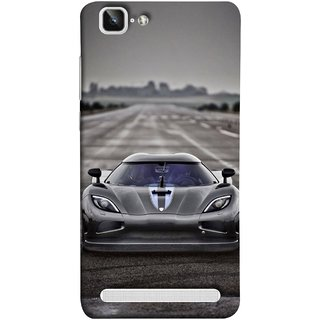 FUSON Designer Back Case Cover For Vivo X5Max :: Vivo X5 Max (Road Black White Clouds Beautiful Road Blue Side Mirror)