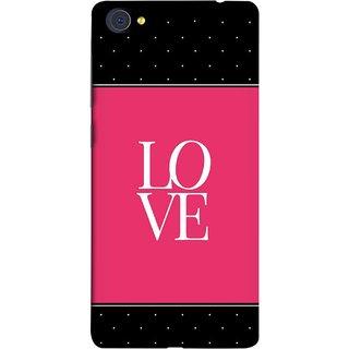 FUSON Designer Back Case Cover For Vivo X5Pro :: Vivo X5 Pro (White Dots On Black Background Prem Pyar)
