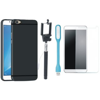 Samsung J7 Max Back Cover with Free Selfie Stick, Tempered Glass, and LED Light