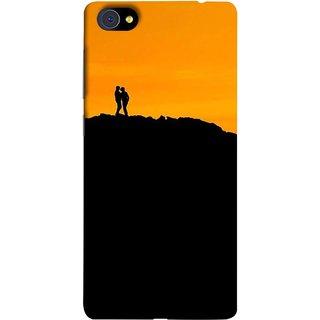 FUSON Designer Back Case Cover For Vivo X7 (Friends Family Lovers Lovebirds Standing Rocks Evening)