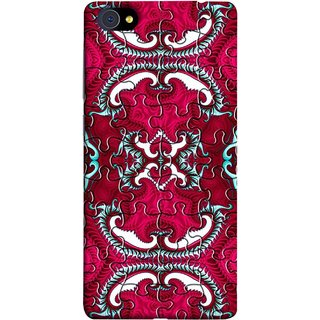 FUSON Designer Back Case Cover For Vivo X7 (Best Wallpaper Red Dark Shade Table Design Artwork)