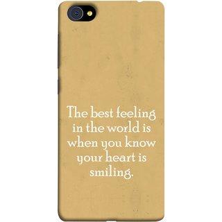 FUSON Designer Back Case Cover For Vivo X7 (Heart Is Smiling Best Feeling In World Keep Smile)