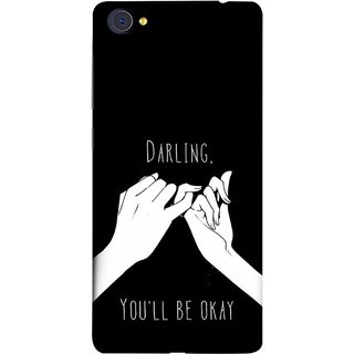 FUSON Designer Back Case Cover For Vivo X7 (My Love All Will Be Fine Just Relaxed Holding Hand)