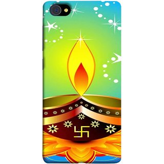 FUSON Designer Back Case Cover For Vivo X7 Plus (Wallpaper Vector Beautiful Vector Diwali Diya)