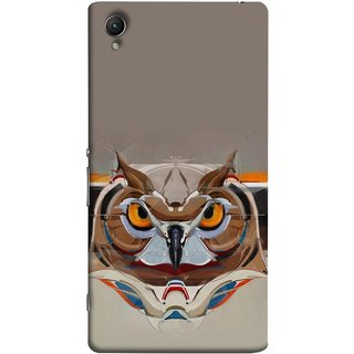 FUSON Designer Back Case Cover For Sony Xperia Z1 :: Sony Xperia Z1 L39h :: Sony Xperia Z1 C6902/L39h :: Sony Xperia Z1 C6903 :: Sony Xperia Z1 C6906 :: Sony Xperia Z1 C6943  (Multicolour Owl Perfect Look King Bird Night Tree )