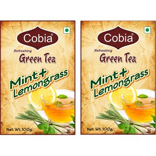 Cobia Green Tea (MInt + Lemongrass) 100g pouch (Pack OF 2)