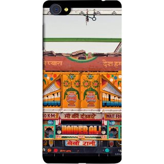 FUSON Designer Back Case Cover For Vivo X7 Plus (Decorated Goods Carrier On Indian Road Stop Dil Tera)
