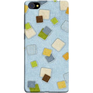 FUSON Designer Back Case Cover For Vivo X7 Plus (Lot Colours Squares Patch Tiles Brown White Checks )
