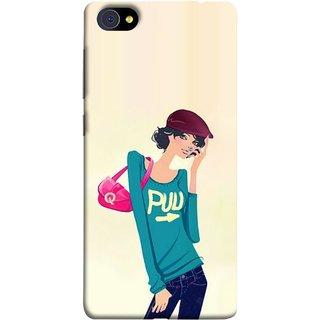 FUSON Designer Back Case Cover For Vivo X7 (Morden Lady Tshirt Jeans Cap Beautiful Girly)