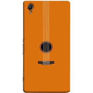 FUSON Designer Back Case Cover For Sony Xperia Z1 :: Sony Xperia Z1 L39h :: Sony Xperia Z1 C6902/L39h :: Sony Xperia Z1 C6903 :: Sony Xperia Z1 C6906 :: Sony Xperia Z1 C6943  (Musical Instrument Vintage Bass Music Lovers Play)