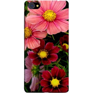 FUSON Designer Back Case Cover For Vivo X7 Plus (Flower Grass Green Small Nice Colourful Gerbera )