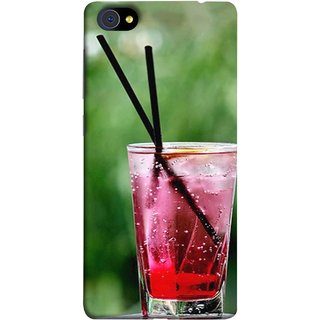 FUSON Designer Back Case Cover For Vivo X7 (Glass Full Of Cold Fresh Squeezed Watermelon Juice)