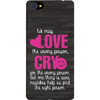 FUSON Designer Back Case Cover For Vivo X7 (Mistakes Help Us Find Correct Person Hearts )