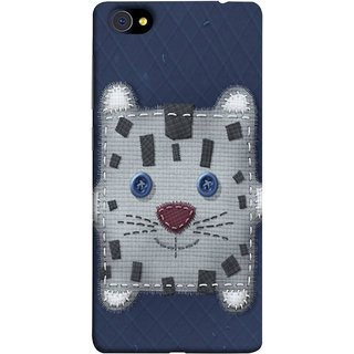 FUSON Designer Back Case Cover For Vivo X7 (Cloth Embroidered Shirt Jacket Patch Mouse Iron Sew)